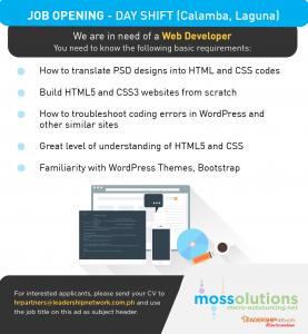 Moss Jobs (3) Web Devt